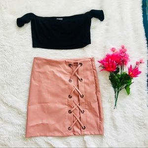 Bodycon pale pink skirt- never worn